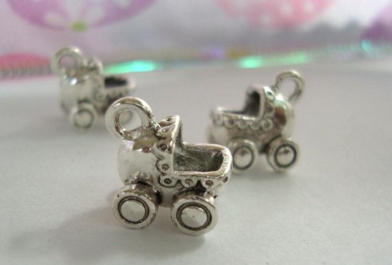 Baby Carriage Baby Shower Embellishments by FlauntingCharms, $2.00