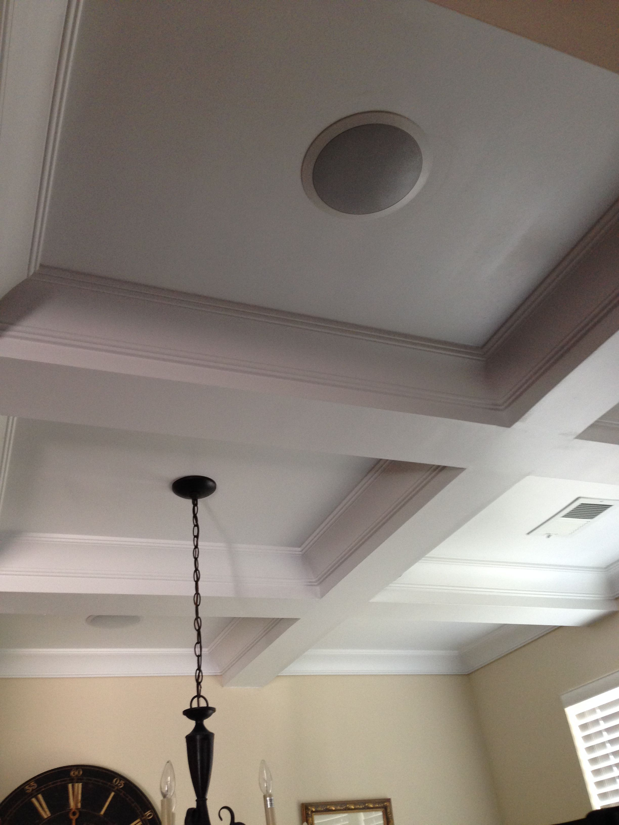 In Ceiling Speakers And Sonos Connect Amp For Dining Room And
