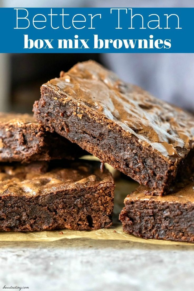 Better than box mix brownies Better than box mix brownies -