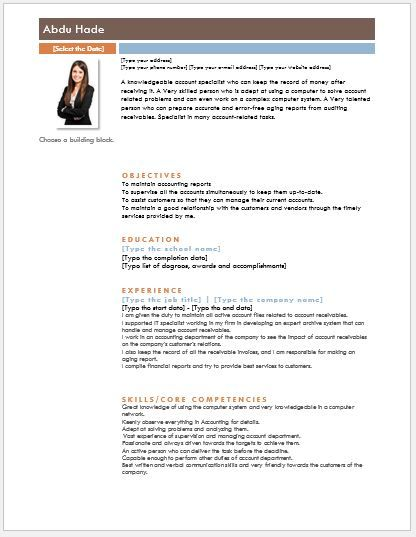 Account Receivable Clerk Resume DOWNLOAD at   writeresume2org - accounts receivable clerk resume