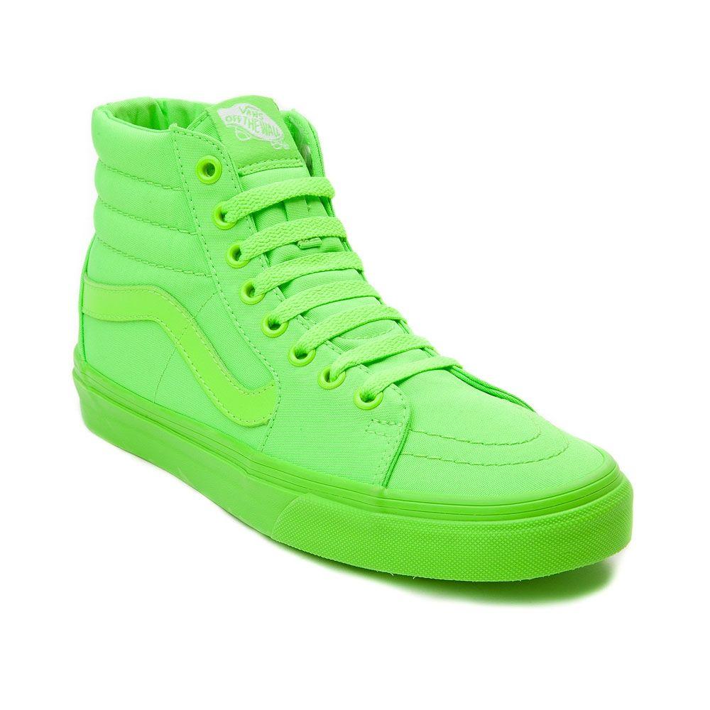 all green vans sk8 hi