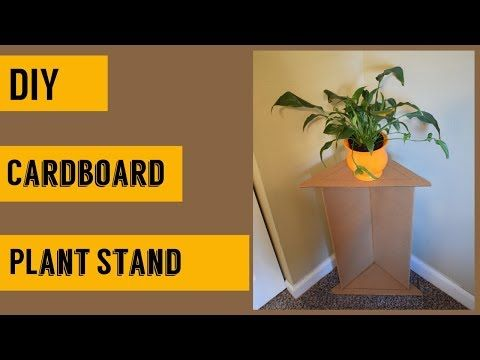 Diy How To Make Plant Standflower Vase Stand Using Cardboard