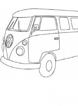 VW Van Coloring Page Volkswagen Bus Printable Sheet