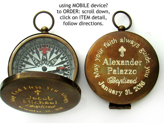 Confirmation Gift. Engraved Compass. Baptism Boy Gift. Personalized. Custom. Confirmation Gift. Godparents Gift. Boy Confirmation. Catholic.