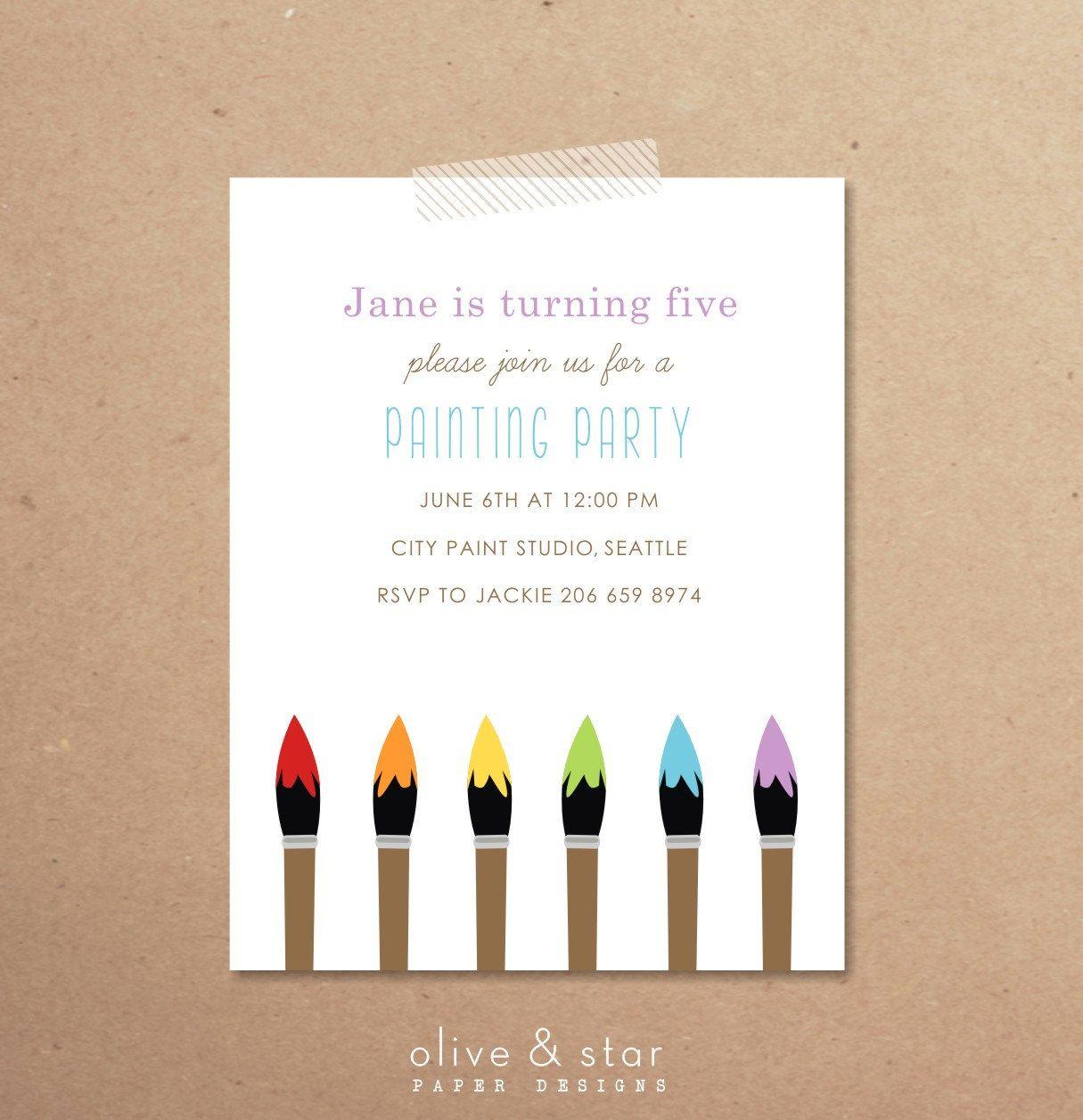 painting party birthday invitation. Love this idea! | Birthday ideas ...