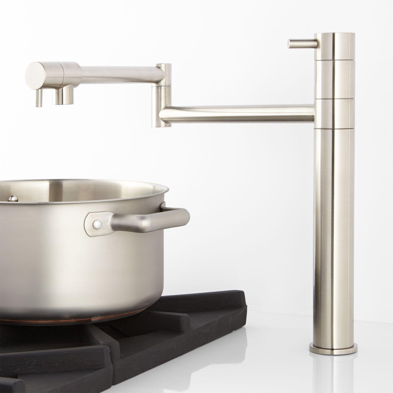 Maddox Deck-Mount Retractable Pot Filler Faucet | Pot filler faucet ...