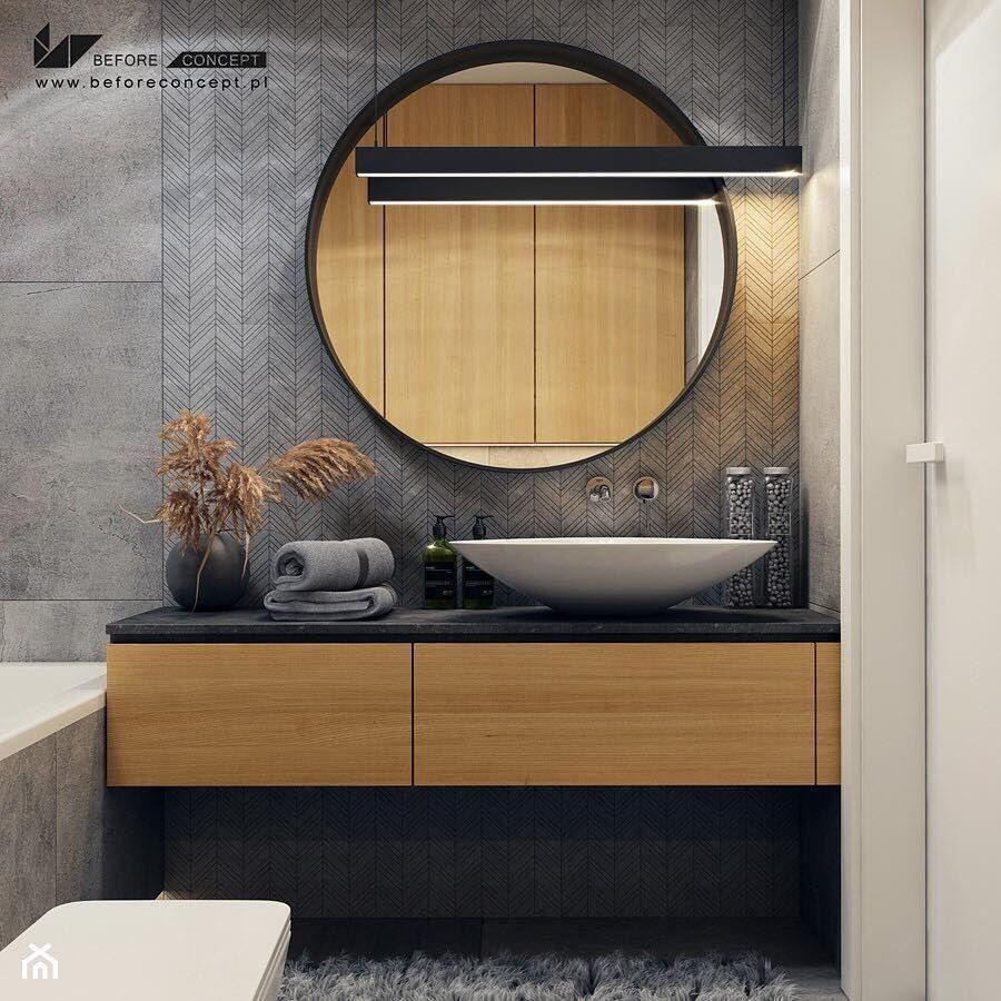 łazienka O Powierzchni 45 M2 Zaprojektowana Przez
