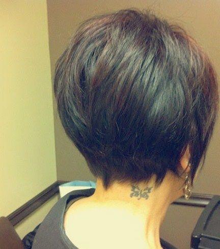 Bob Frisuren Kurz Hinten Hair Styles Pinterest Short Hair