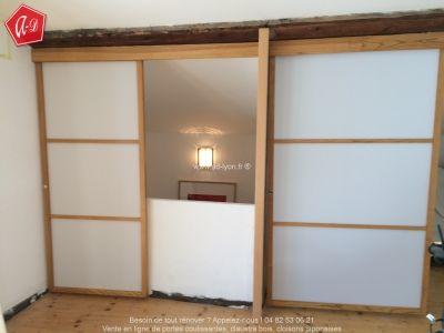 portes coulissantes japonaises installation en sous pente cloison japonaise coulissante et. Black Bedroom Furniture Sets. Home Design Ideas