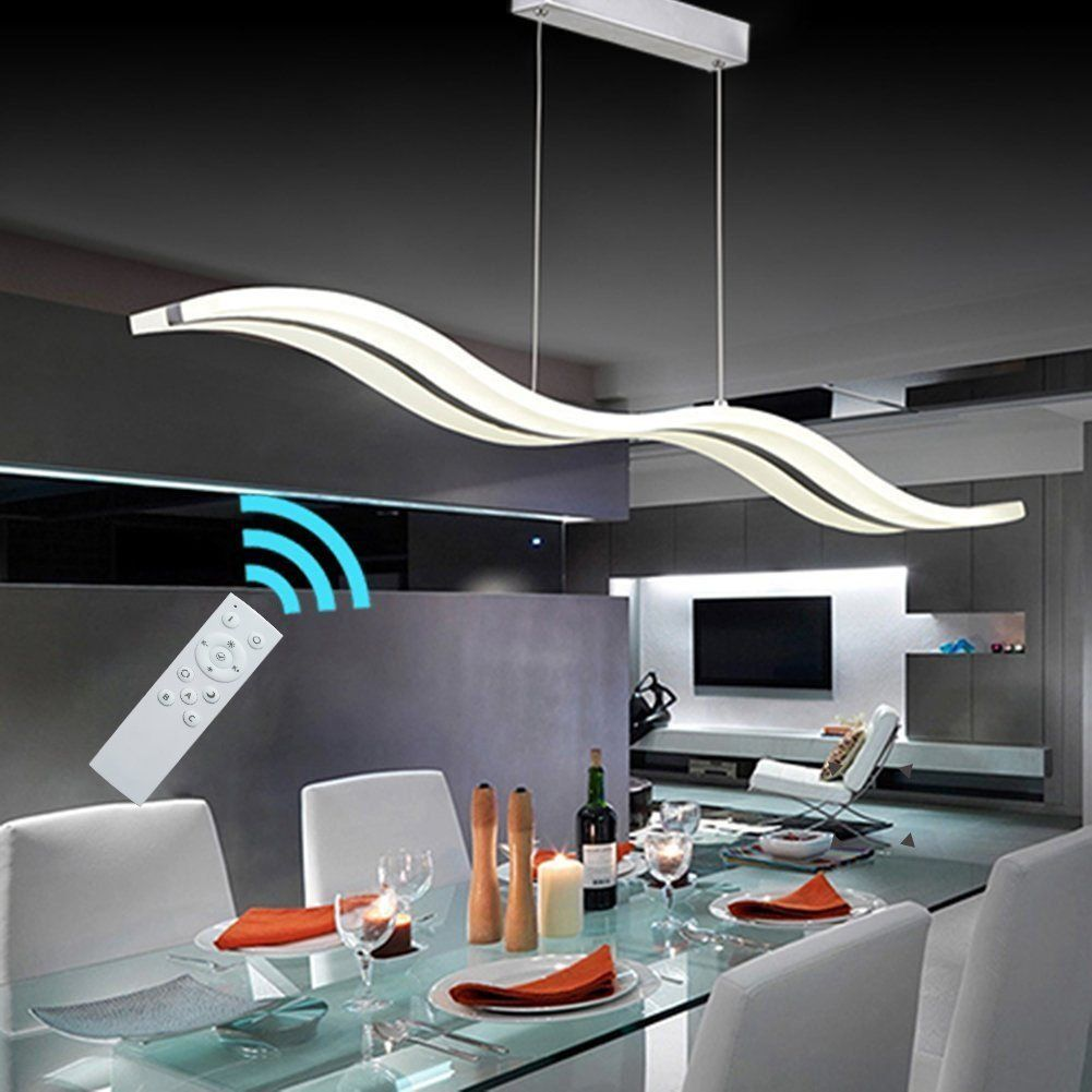 Create For Life Modern Wave Led Pendant Light Fixture Cei