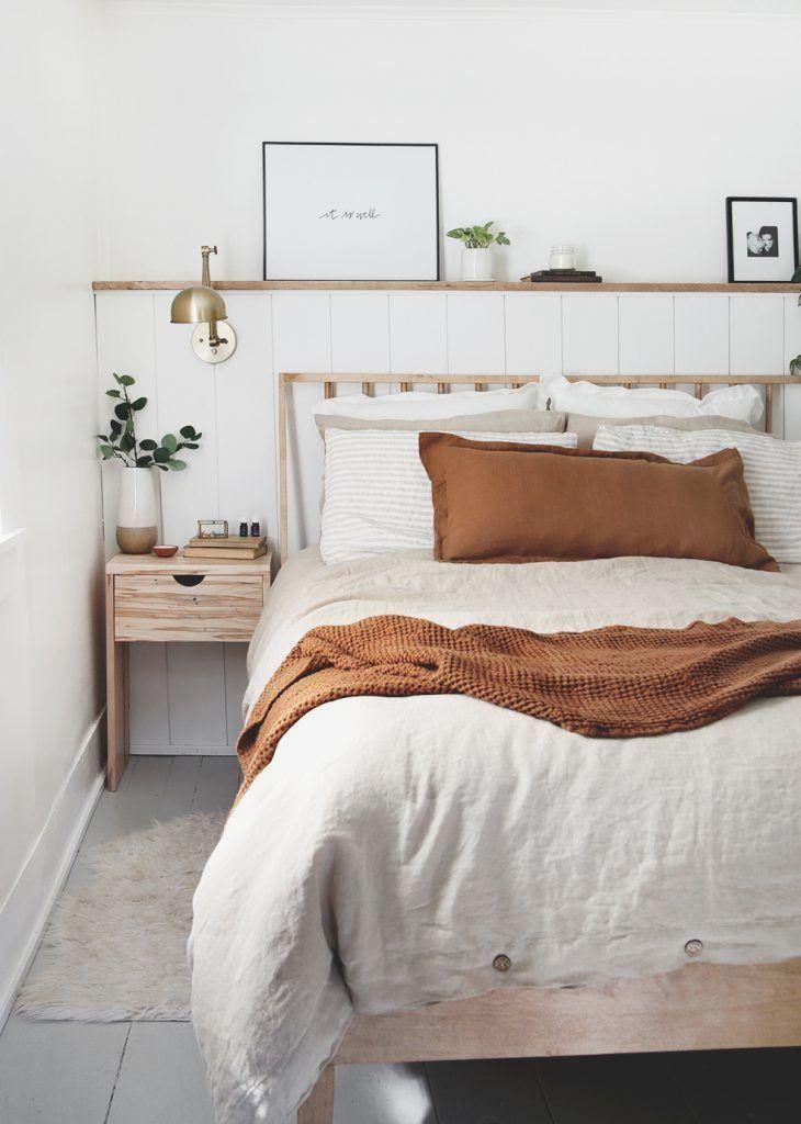 DIY Wood Nightstand with Drawer - #bedroominspo