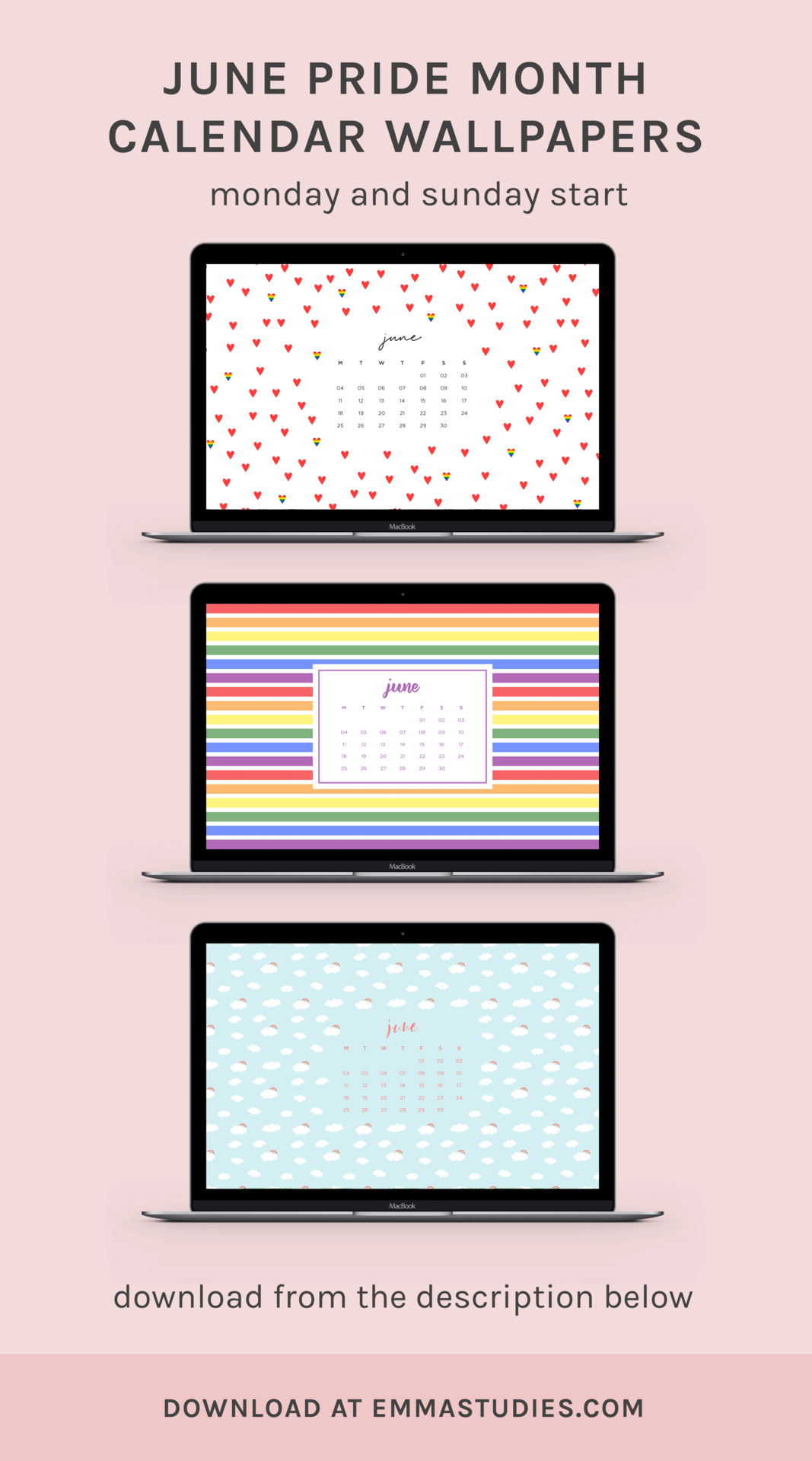 Pride Month Calendar 2019.June Pride Month Calendar Desktop Wallpapers Emmastudies Art