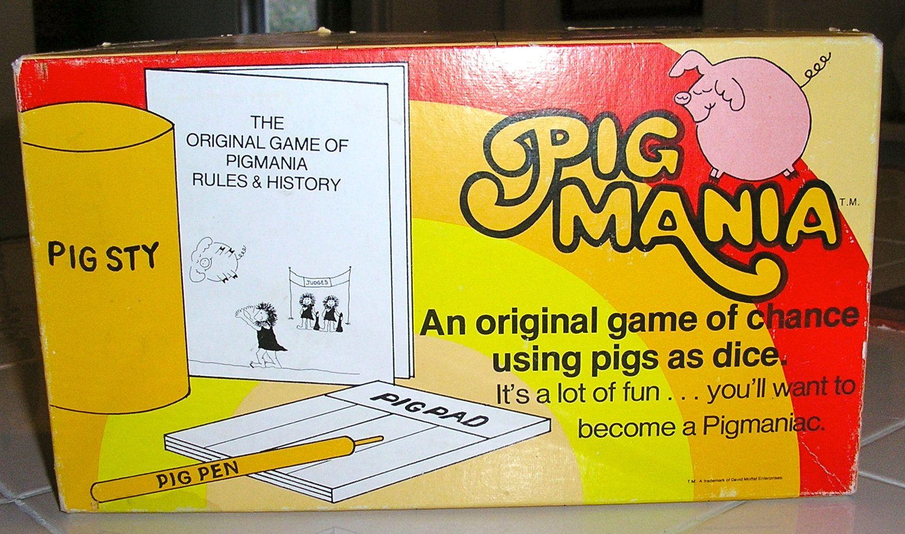 SALE Vintage 1977 Pigmania Game Pass the Pigs Excellent