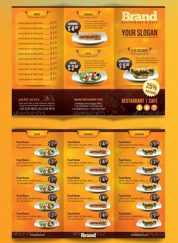 Best Restaurant Food Menu Templates  Psd  Indesign  Food Menu