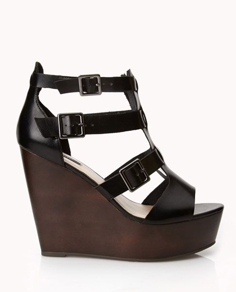 0c8fc6bc73f0 faux leather gladiator wedges How to Wear Cute Shoes When You Have Bunions