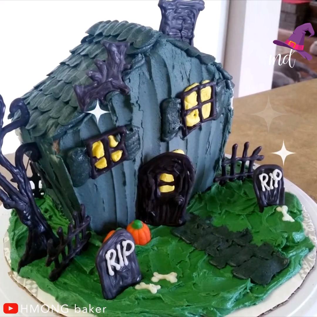 HALLOWEEN INSPIRED CAKE DECORATING  #gateauhalloweenfacile