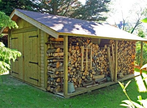 Garage Bois Bretagne 3 50mx5 70m Bucher Cerisier Abris De Jardin En Bois Outdoor Shop Buildings Wood Shed