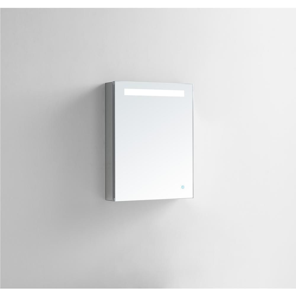 Aquadom Pacifica 20 In W X 26 In H Recessed Or Surface Mount Medicine Cabinet With Single Door Led Lighting Left Hinge P 2026l The Home Depot Surface Mount Medicine Cabinet Adjustable