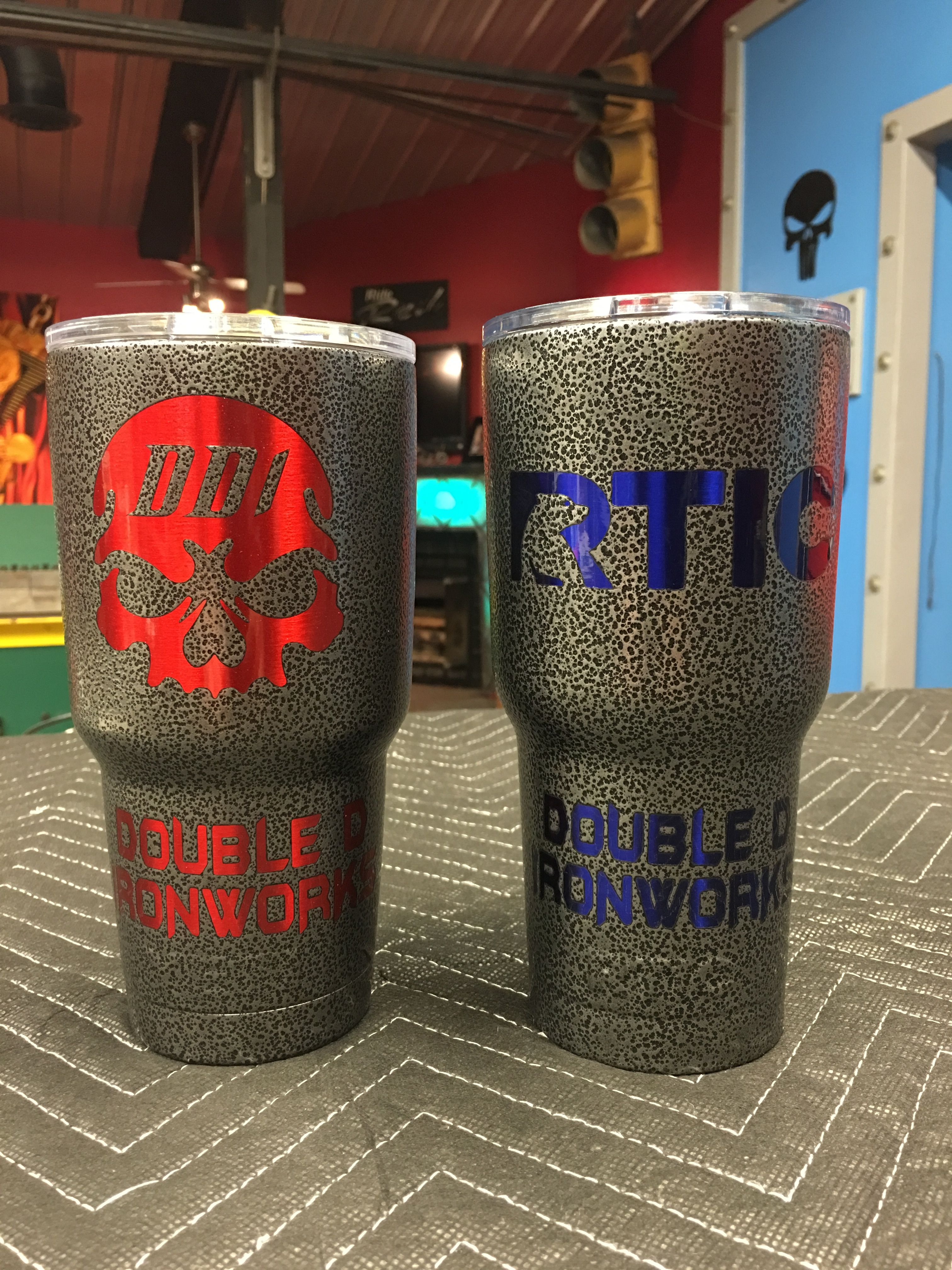 893f3ef0d5c Powder Coated laser engraved Yeti's and Rtic tumblers  www.facebook.com/DoubleDironworks