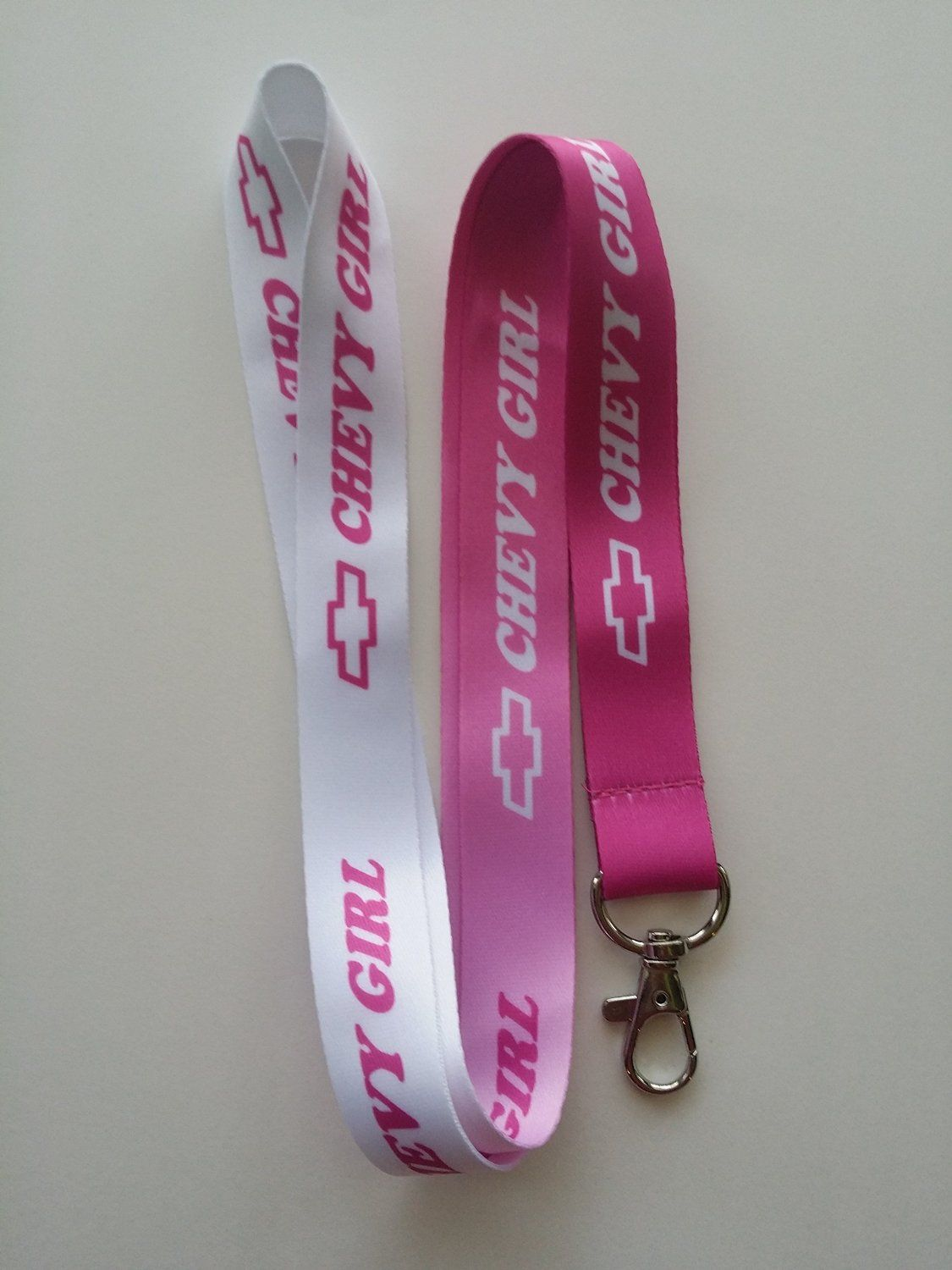 Amazon Com Chevy Girl Pink White Lanyard Office Products Chevy Girl Chevy Silverado Accessories Chevy