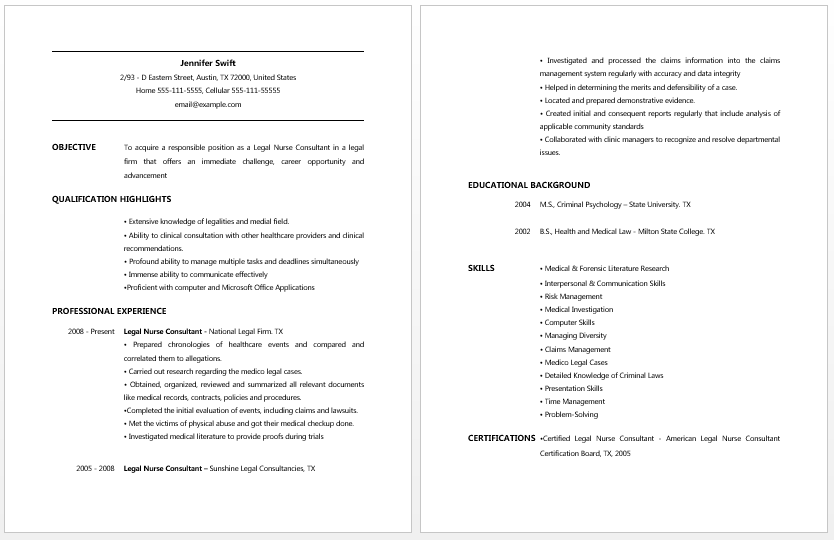 Cna Resume Template Cna Resume No Work Experience Template  Google Search  Resume
