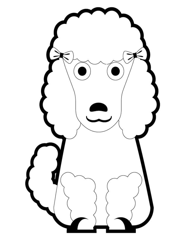 Poodle Coloring Pages Best Poodle Is A French National Dog There Are 3 Sizes For This Elegant An Animal Coloring Pages Coloring Pages Coloring Pages To Print