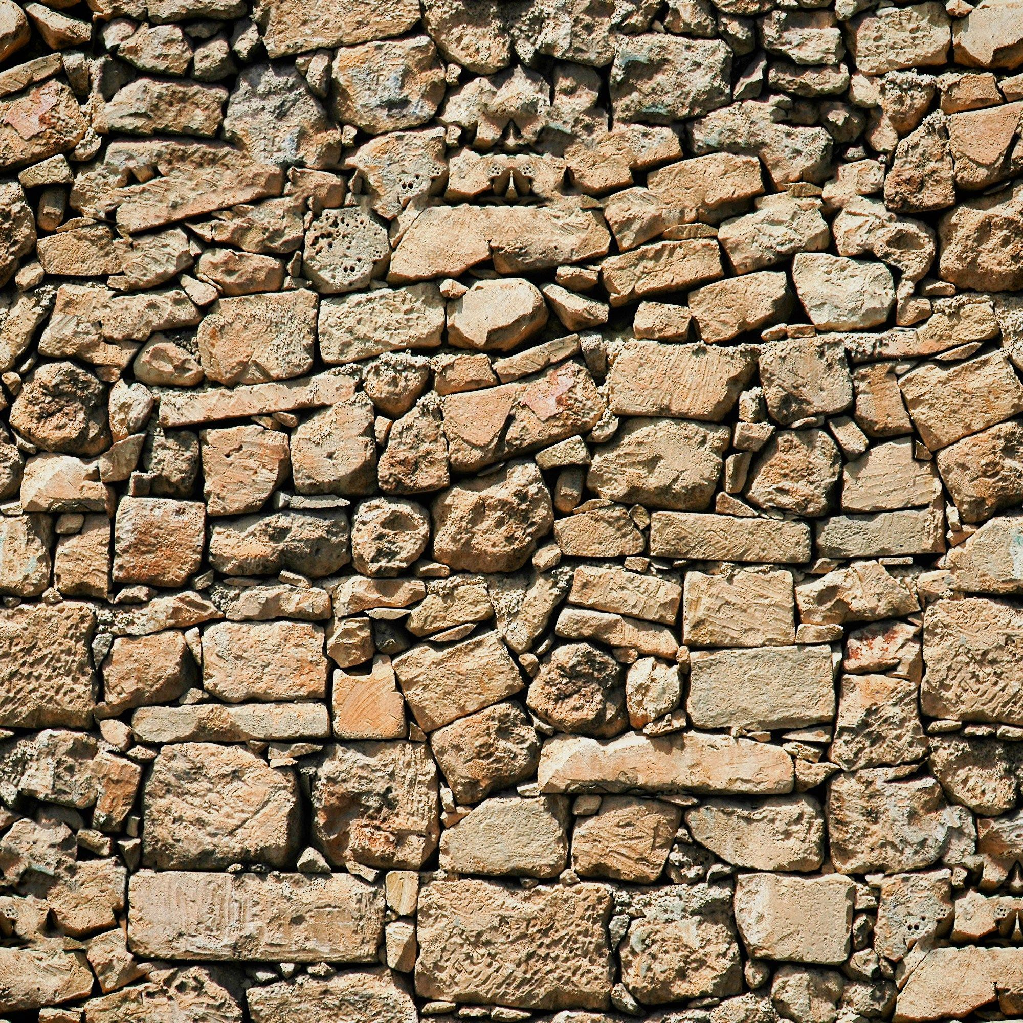 Old Stone Wall Seamless Texture Old Stone Stone Wall Stacked Stone