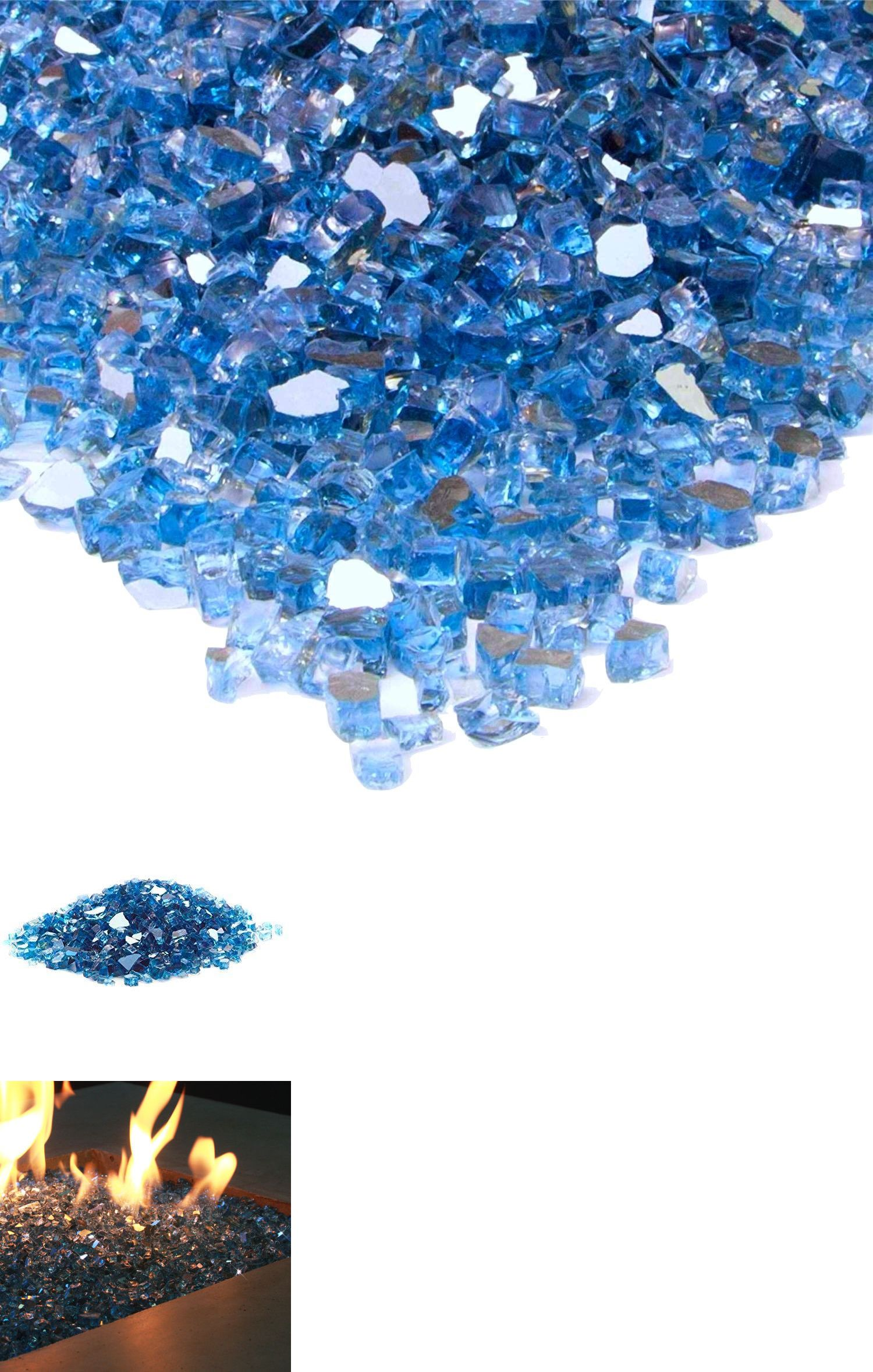 Vivid Pacific Blue Reflective Fireglass 1 2 Inch Fireplace Fire Pit Glass Ebay Glass Fire Pit Fire Glass Pacific Blue