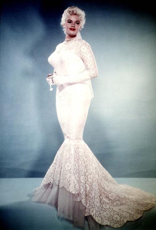 jayne mansfield pink wedding dress