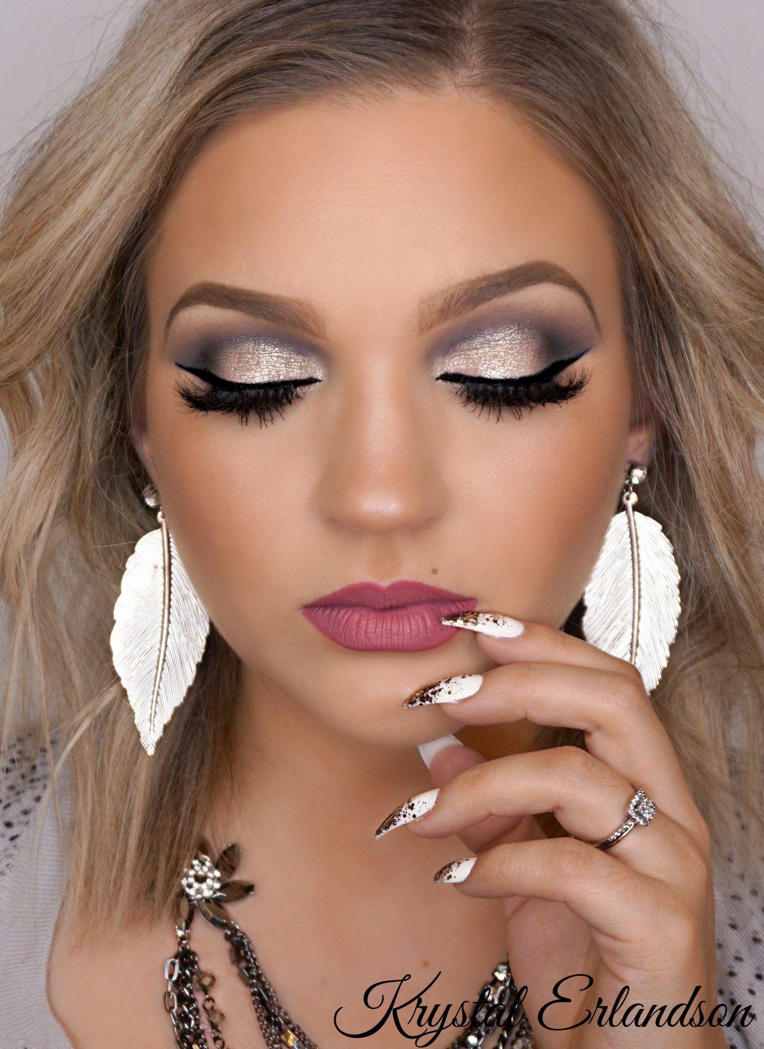 glittery smokey eye Makeup Tutorial - Makeup Geek | Maquillaje