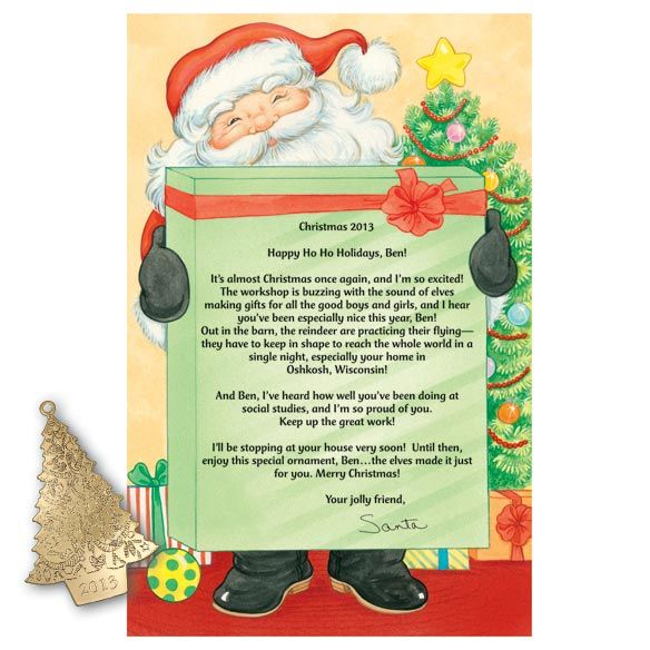 Personalized Letter From Santa  Santa Grandchildren And Child
