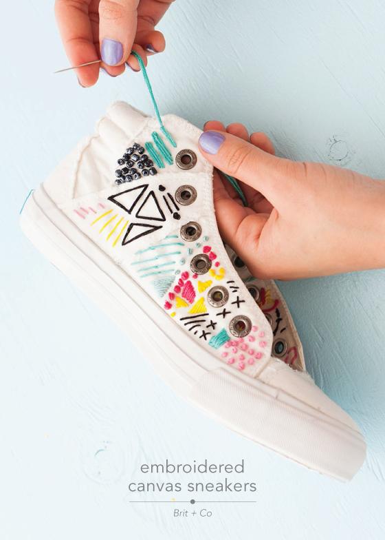 schuhe mit faeden selber dekorieren, 12 june diys | diy kleidung ❤ fashion love | pinterest | besticken, Design ideen