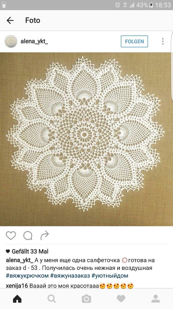 Pin de Lihua Wong en Crochet doilies   Pinterest   Mesas, Camas y ...
