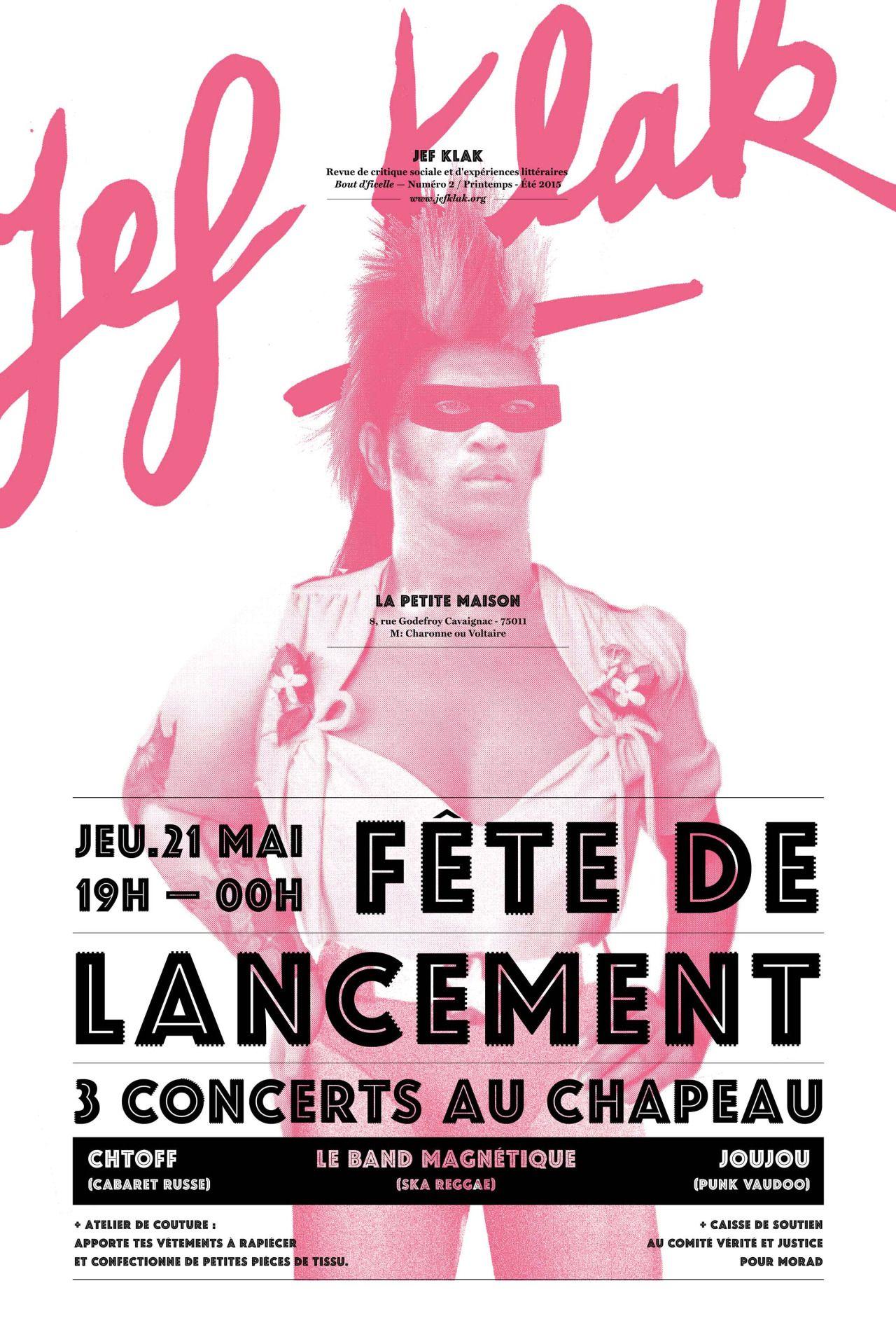 Jef Klak Photo Typographic Poster Typographic Design Art