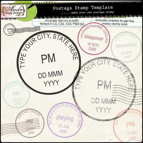 Customizable Postage Stamp Template By Amber Clegg  Craftiness