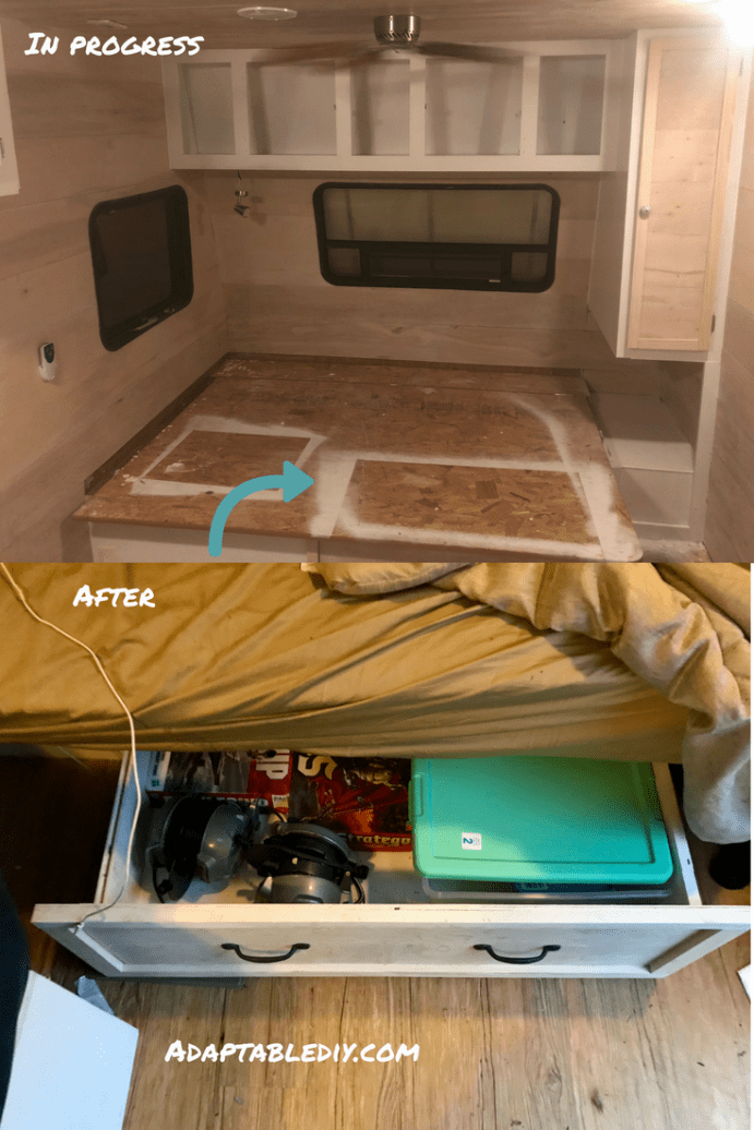 9 Updates That Made Our Rv Bedroom Awesome Check Out These Diy Rv