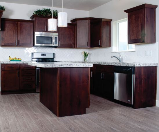 Knotty Alder Mocha Shaker - Kitchen in 2020 | Alder ...