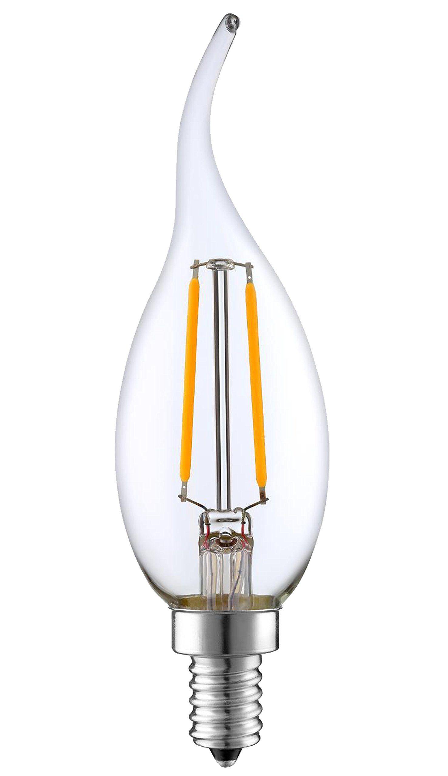 Sleeklighting 2 Watt E12 Led Filament Candelabra Dimmable Light Bulb Warm White 2700k Chandelier Decorativ In 2020 Light Bulb Dimmable Light Bulbs Led Candelabra Bulbs