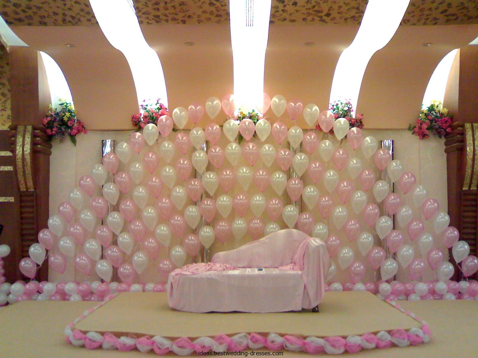 Traditional christian wedding stage decoration trendy for B day decoration at home