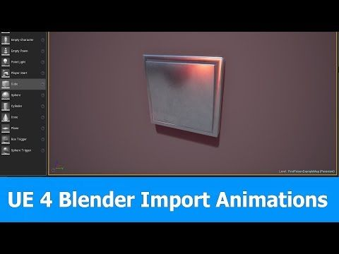 Tutorial: Exporting Blender FBX animations to Unreal Engine