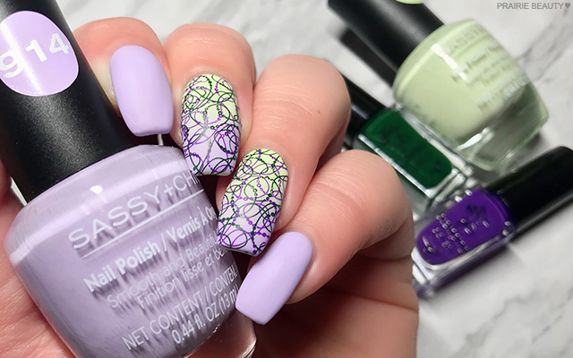 Prairie Beauty Nail Art Pastel Purple Green Gradient Nails In 2020 Nail Art Chic Nails Chic Nail Polish