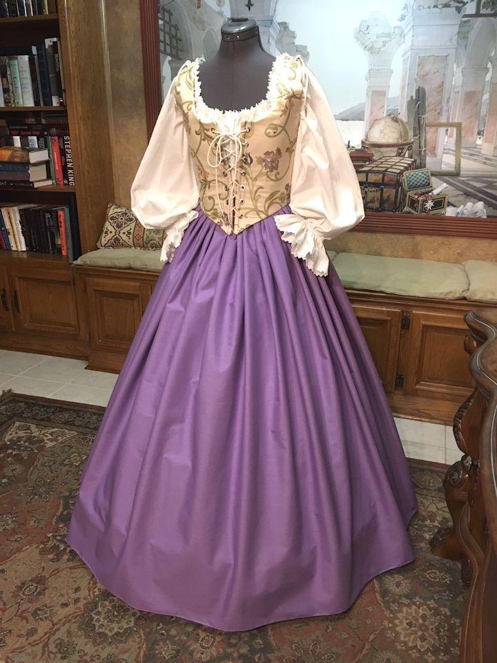 lilac floral ensemble  renaissance clothing ball gowns