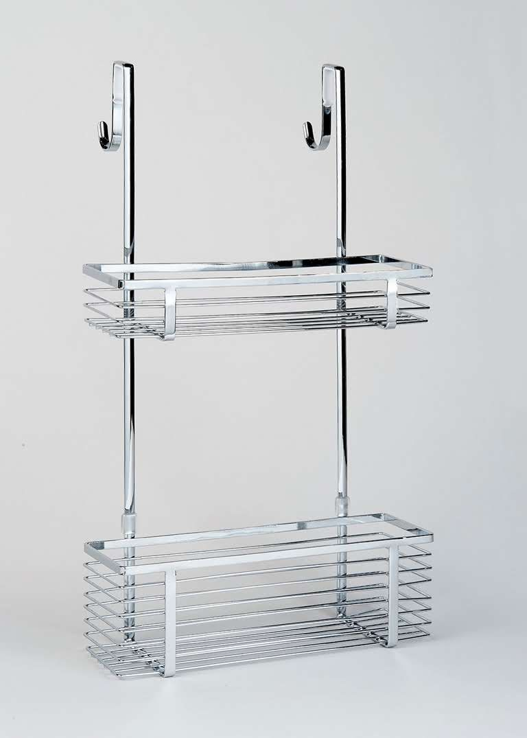 Chrome Over Shower Door Caddy (51cm x 30cm x 10cm) | Pinterest ...