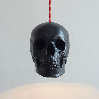Skull Pendant Light - Black