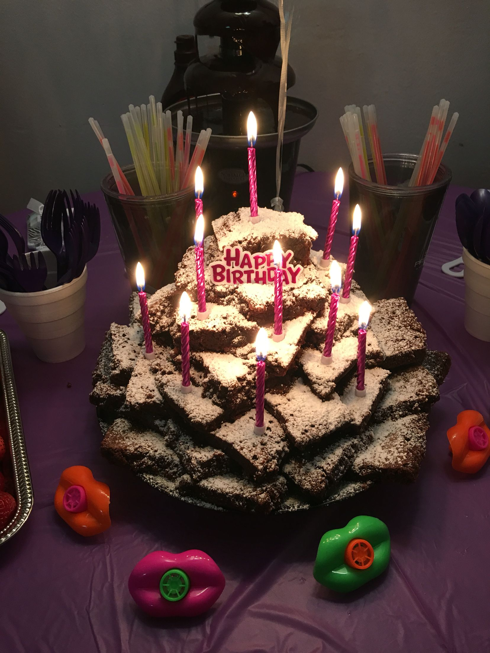 Miraculous Nikaya Wanted A Brownie Tower For Her 11Th Birthday Birthday Personalised Birthday Cards Paralily Jamesorg