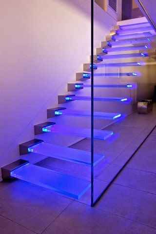 Best Glass Staircase Panels And Railings With Led Lights In 640 x 480