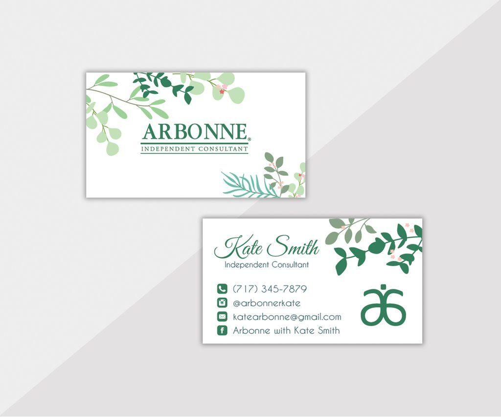 Arbonne Business Cards Personalized Arbonne Cards Ab15 Arbonne Business Cards Arbonne Business Cards