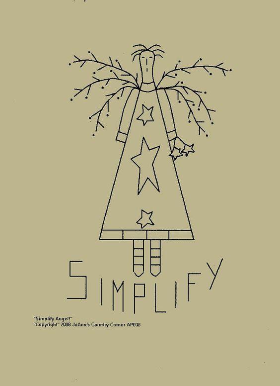 "Primitive Stitchery Pattern /""Country Comforts /"""