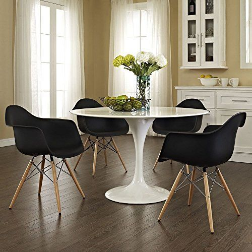 2xhome Set Of Two 2 Black Eames Style Armchair Natural Wood Legs Eiffel Dining Room Chair Lounge Arm Arms Chairs Seats Wooden Leg