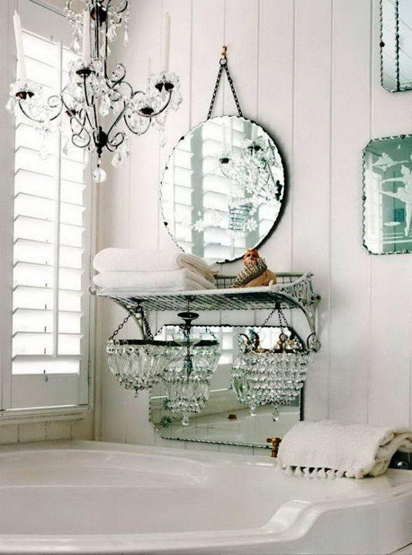 Vintage Chic White Bathroom Decor Vintage French Pinterest